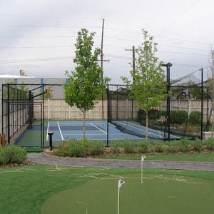 Backyard Sport Court Game Court and Batting Cage System. Allsport America