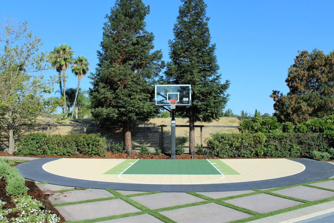 Backyard Basketball Court Sport Court Custom