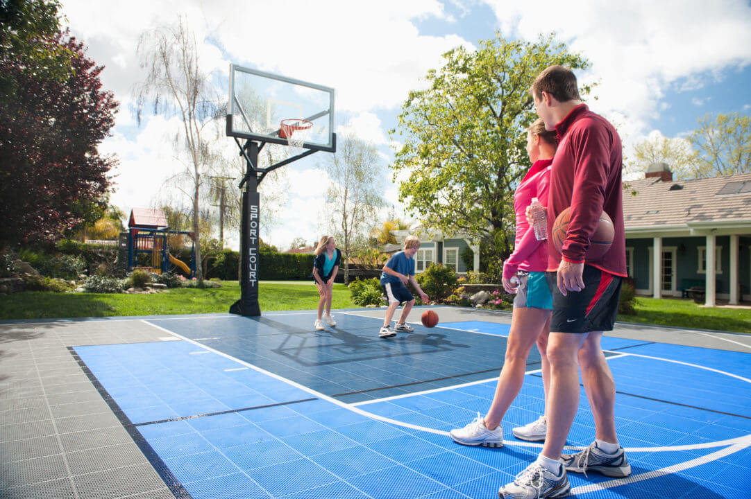 Residential Backyard Sport Court Game Court, Basketball Court | Spend Time With Family and Children | AllSport America