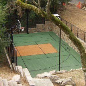 Backyard Sport Court Multi Court Basketball Tennis Pickleball Court