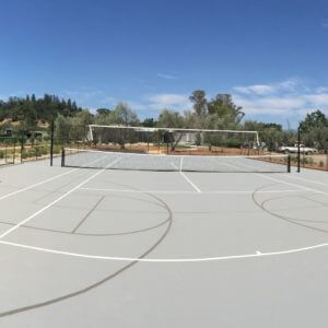 Backyard Tennis Court Nova Pro Bounce Basketball, Tennis and Volleyball