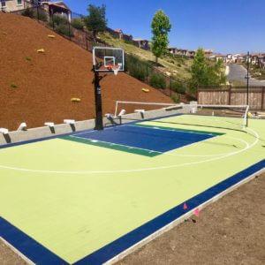 Backyard Basketball Court Sport Court Residential