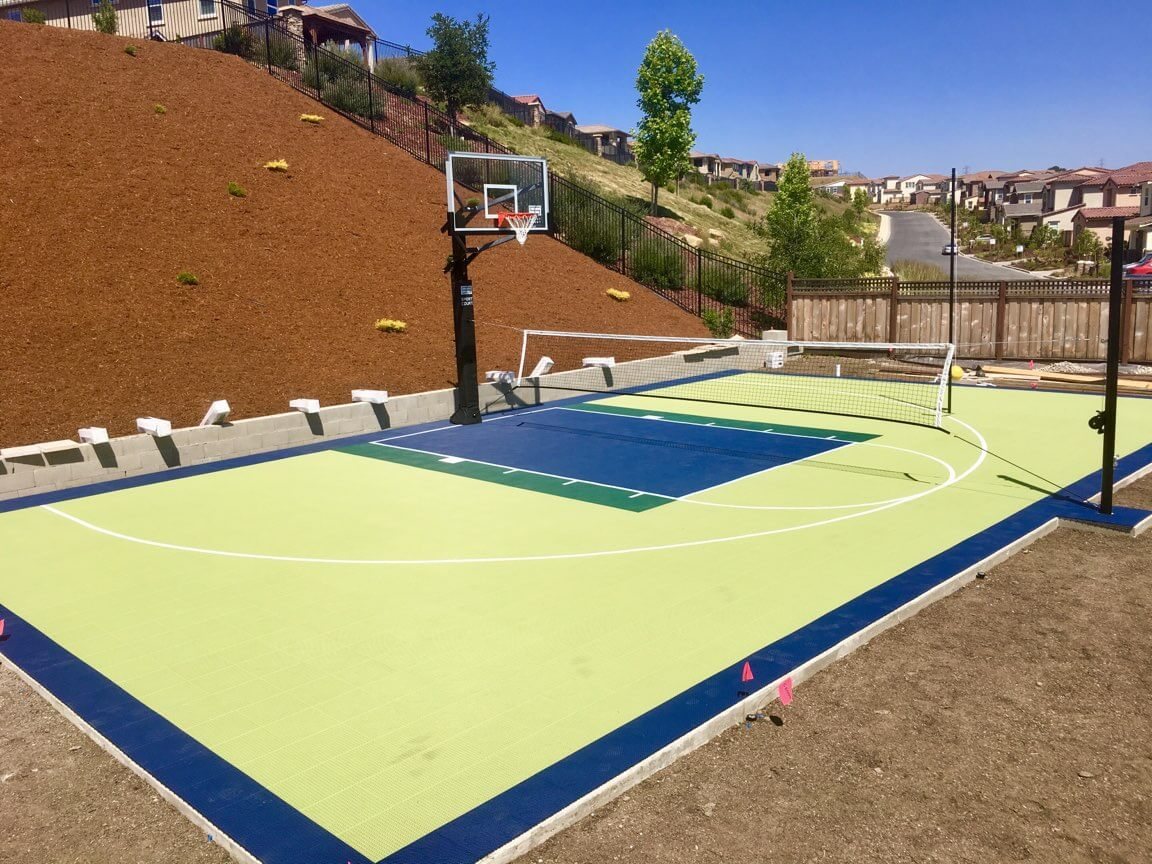 Backyard Basketball Court Sport Court Residential
