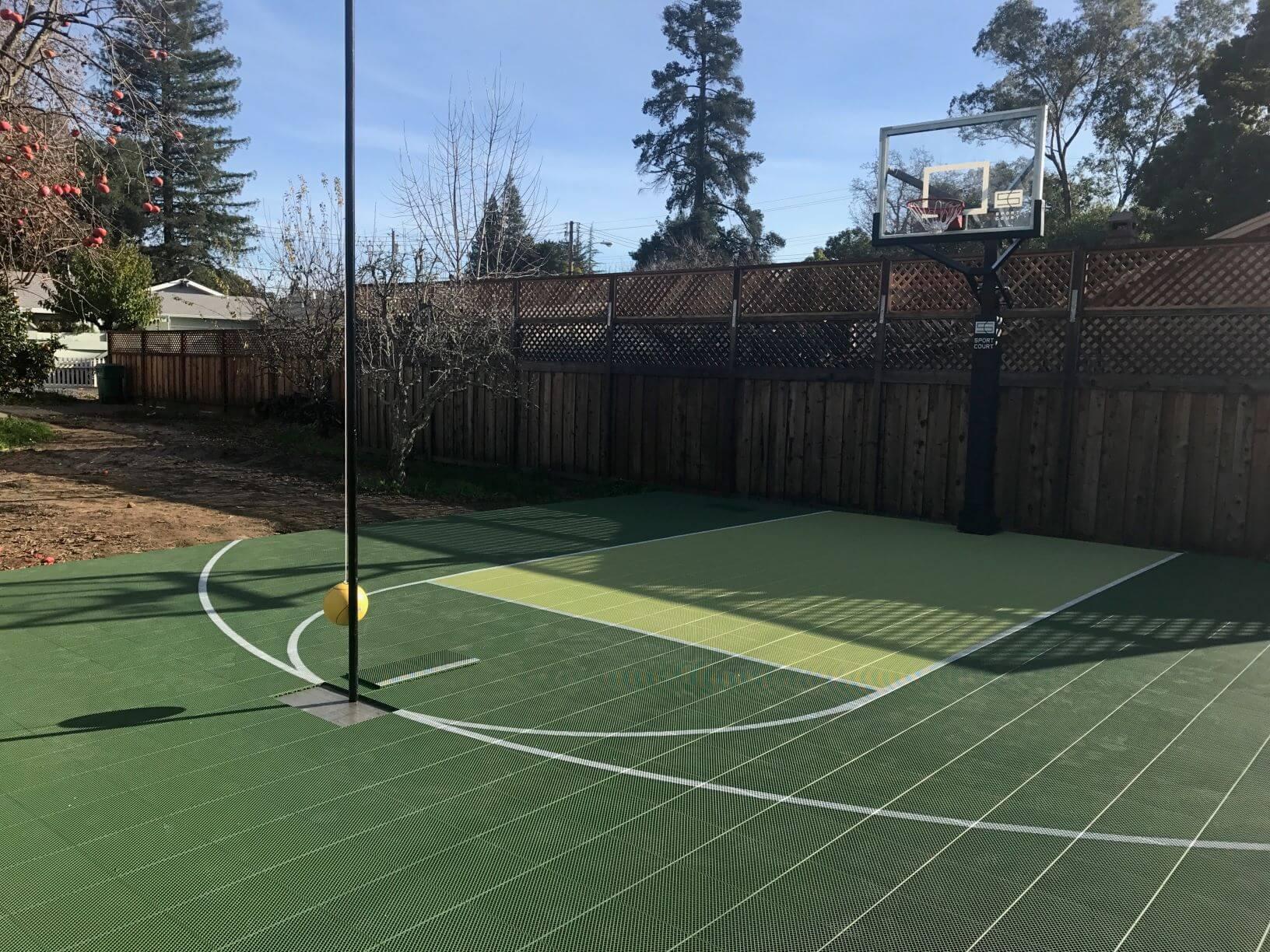 Backyard Sport Court Multi Game Outdoor Residential Allsport America
