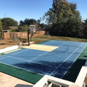 Backyard Residential Sport Court Multi Purpose Game Court Tennis Volleyball Basketball