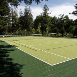 Backyard Residential Tennis Court Multi Court