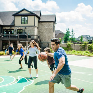Residential Backyard Sport Court Game Court | Backyard Basketball Court, Tennis Court, Volleyball Court, Futsal Court, Pickleball Court and Badminton Court | AllSport America