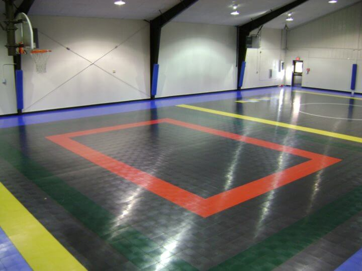 Sport Court Indoor Multi Purpose Room Gymnasium Athletic Flooring. AllSport America