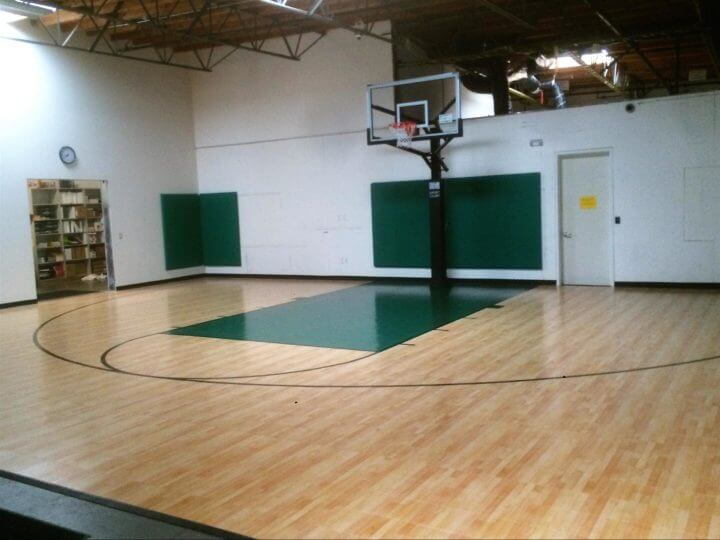 Home Gym Sport Court Indoor Basketball Court Performance Athletic Surfacing