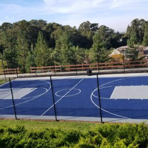 Commercial Outdoor Basketball Sport Court, Castro Valley, CA