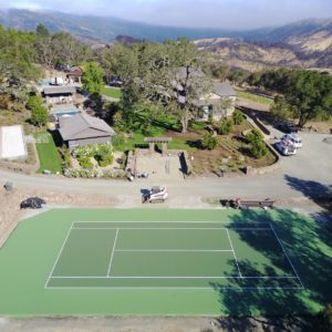 Backyard Residential Sport Court Tennis Court Calistoga, CA Nova ProBounce Surface