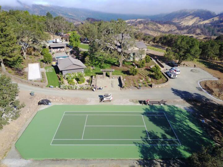 Sport Court Nova Pro Bounce Tennis Court Calistoga, CA