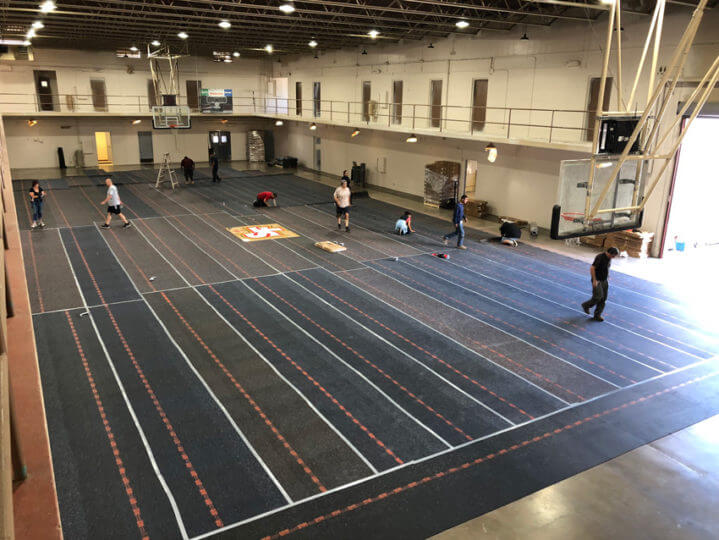 Indoor Gymnasium Sport Court Athletic Flooring Installation