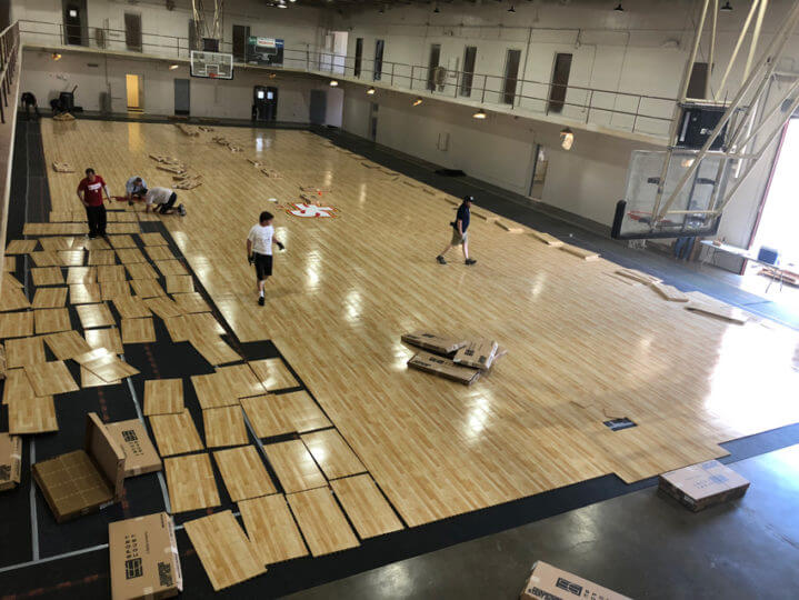 Indoor Gymnasium Sport Court Response HG Maple Select Flooring | Athletic Surfacing Commercial Installation | AllSport America