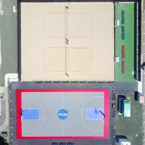 NASA Sport Court Basketball and Sand Volleyball Court