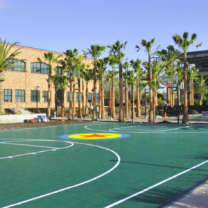 Pixar Studios Corporate Campus Sport Court Basketball Court in Emeryville, CA | AllSport America