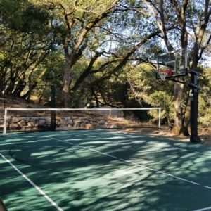 Backyard Sport Court Game Court Basketball, Pickleball and Tennis in Sonoma, CA
