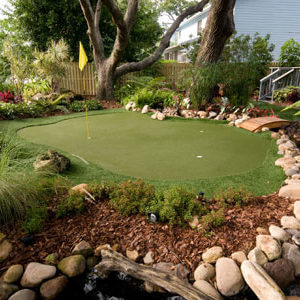 Custom Backyard Residential Putting Green. AllSport America