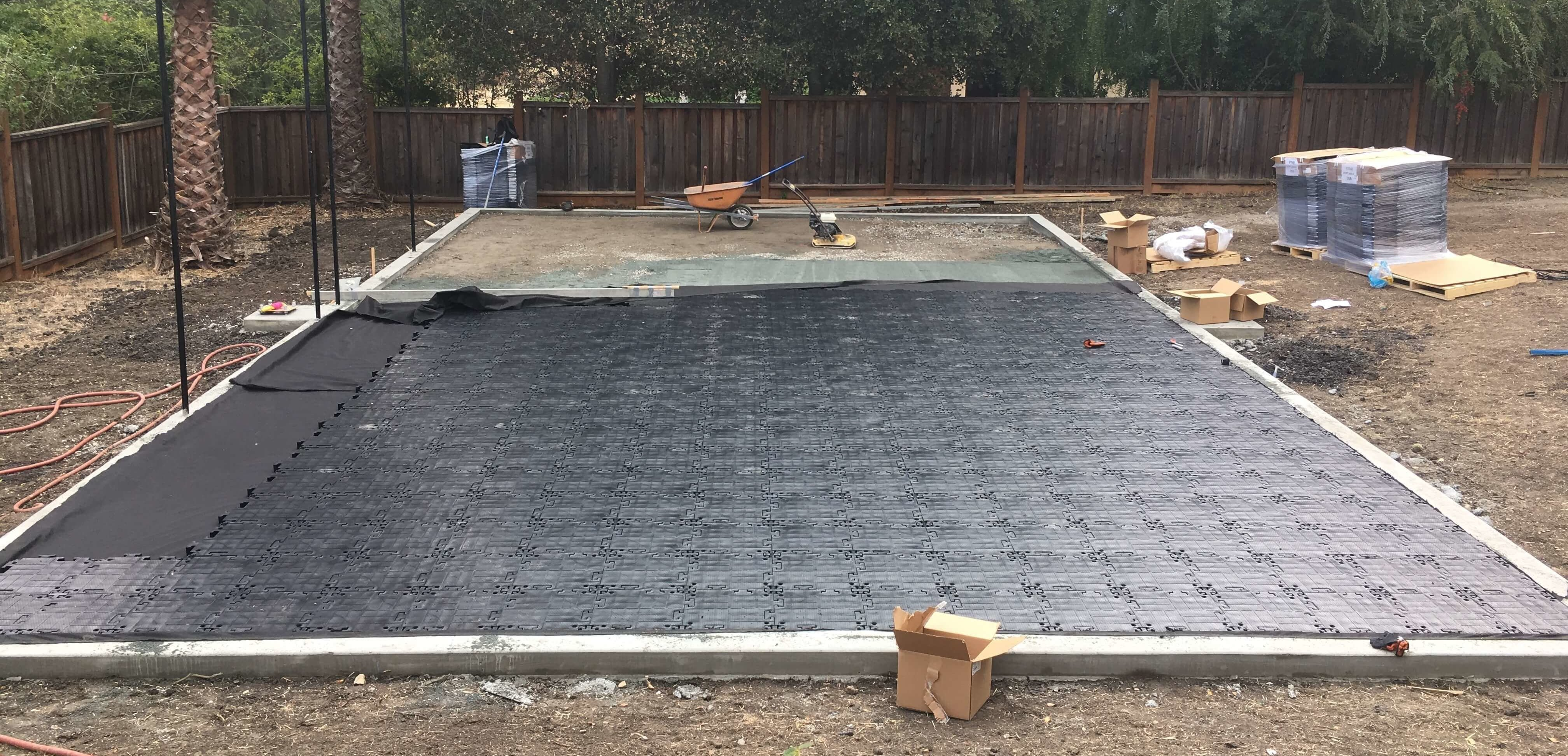 Permeable Sport Court Foundation With