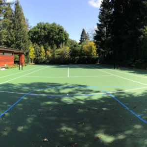 Backyard Tennis Court Menlo Park