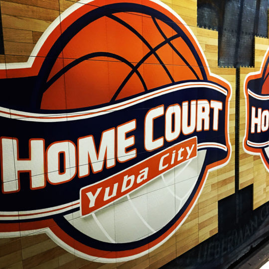Custom Home Court Logo