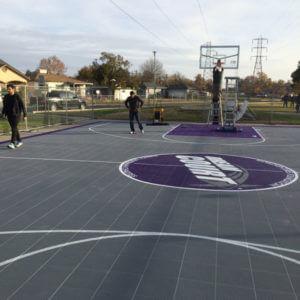 Outdoor Commercial Basketball Court Sacramento Kings