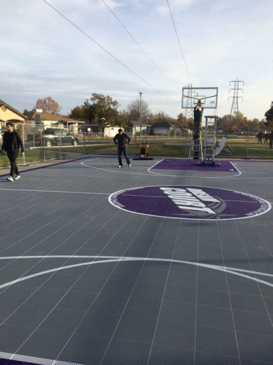 Outdoor Commercial Basketball Court Sacramento Kings