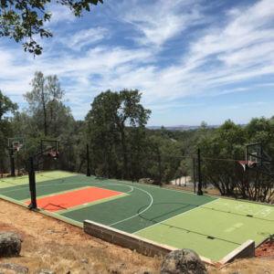 Backyard Basketball Court and Multi-Sport Game Court Basketball. Volleyball, Shuffleboard, Tennis, Roller Hockey Northern California San Francisco Bay Area