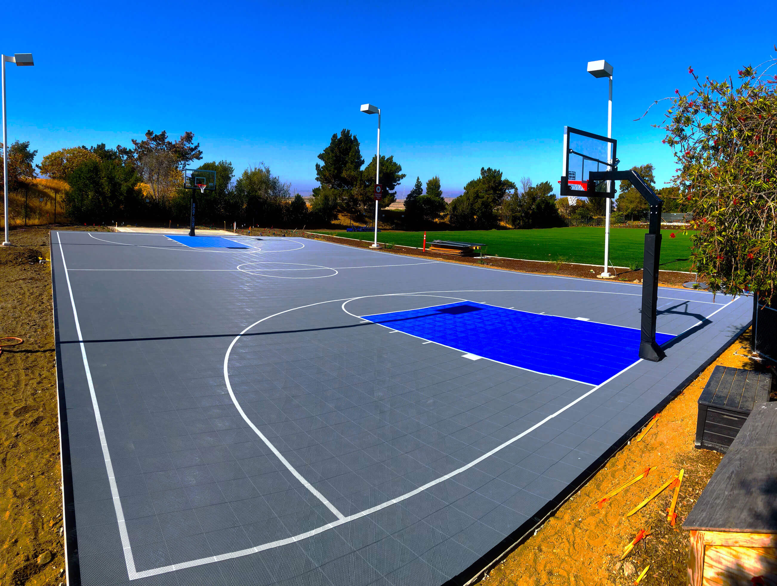 Backyard Basketball Courts Outdoor Residential Allsport America