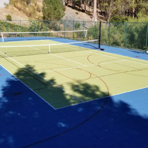 Backyard Tennis Sport Court Multi-Court Resurfacing, Residential in Hillsborough