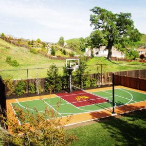 Backyard Sport Court Game Court Basketball Tennis