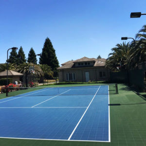 Backyard Residential Tennis Court