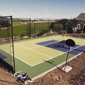 Backyard Basketball Court Sport Court Multi Purpose