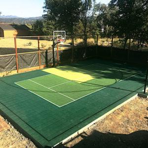 Backyard Basketball Court Sport Court Multi-Purpose
