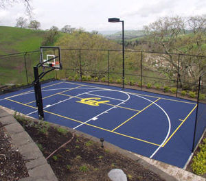 Backyard Basketball Court Sport Court with CAL Logo