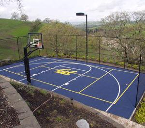 Backyard Basketball Court Sport Court with CAL Logo