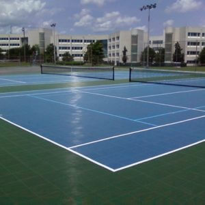 Sport Court PowerGame Tennis Court Tile Overlay Surfacing