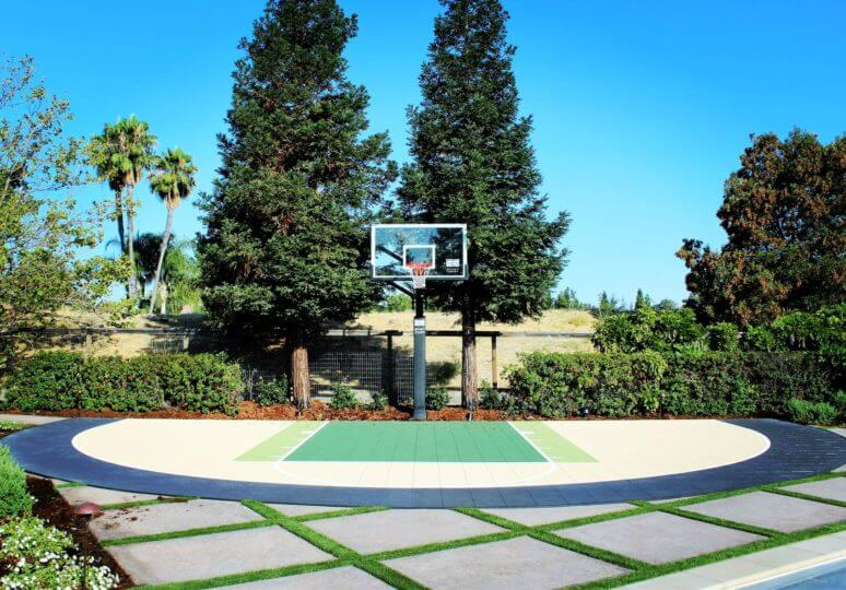 Backyard Basketball Court Custom Arc
