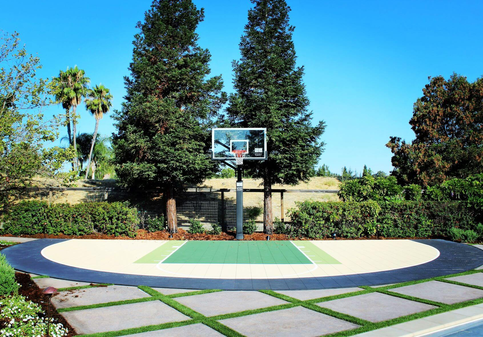 Sport Court Backyard Residential Basketball Court Custom Danville Alamo California