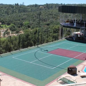 Residential Backyard Sport Court Game Court | Backyard Basketball Court, Tennis Court, Pickleball Court, Volleyball Court and Badminton Court | AllSport America