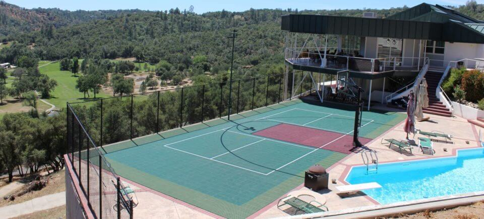 Backyard Sport Court Basketball and Pickleball Court