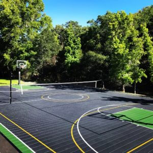 Outdoor Commercial Multi Purpose Sport Court Game Court | Basketball, Volleyball, and Futsal | AllSport America