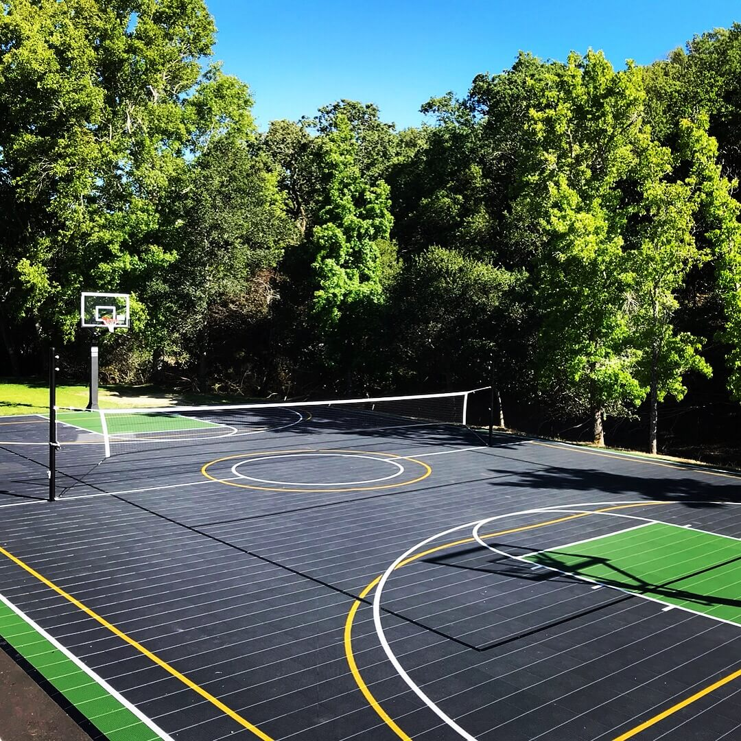 Warriors Path State Park Basketball Court: Backyard Sport Court Multi-Game, Outdoor Residential