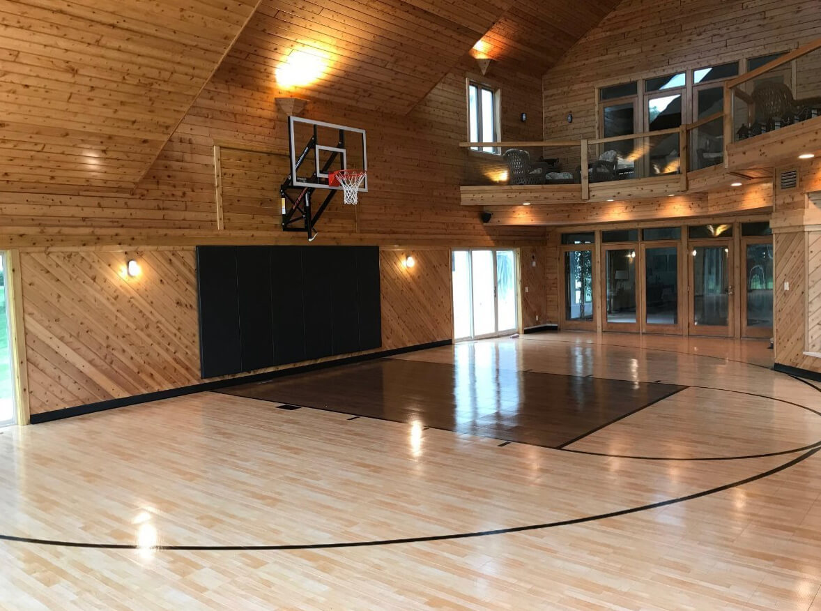 In Home Flooring Exercise Basketball