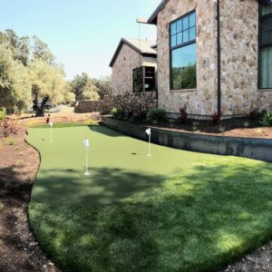 Custom Putting Green 15x40 Sport Court Golf Green