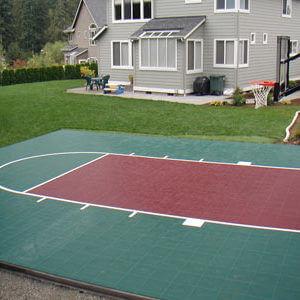 Backyard Basketball Court, Sport Court Landscape Outdoor Design