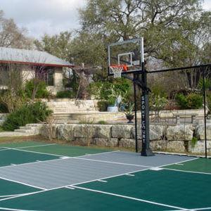 Backyard Residential Sport Court Game Court Basketball and Pickleball