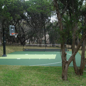 Backyard Residential Basketball Court Sport Court