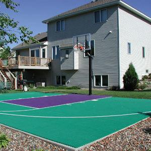 Backyard Basketball Court Sport Court