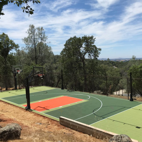 Backyard Basketball Court Sport Court with shuffleboard Sonora